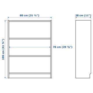 Mueble estantería con puertas serie BILLY de IKEA