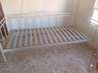 cama blanca lacada 190x90