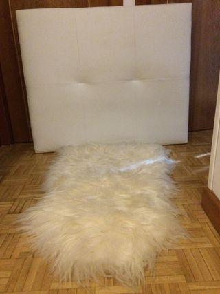Cabecero moderno blanco para cama de 90