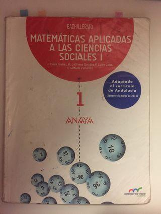 Libro Matematicas 1 de bachillerato SOCIALES
