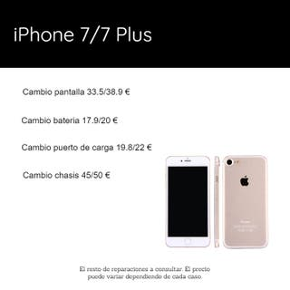 Reparación iPhone 7/7 Plus