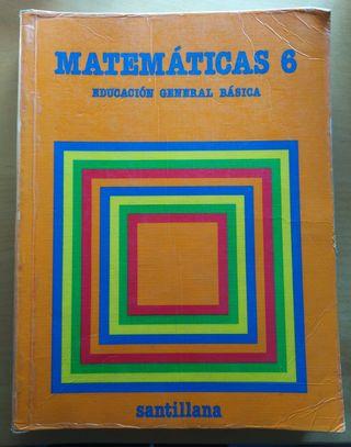 Libro Matemáticas 6, EGB Santillana