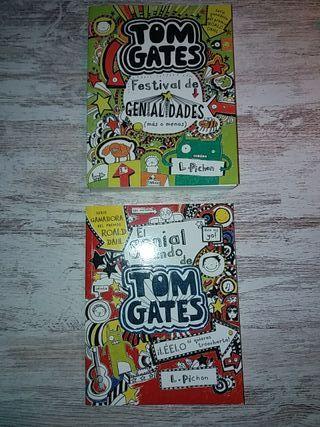 2 libros Tom Gates literatura infantil