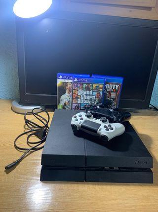 PS4 500Gb + 2 mandos + 3 juegos