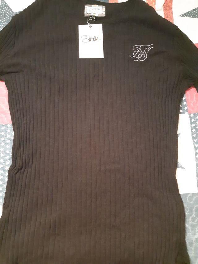 camiseta manga larga siksilk talla L