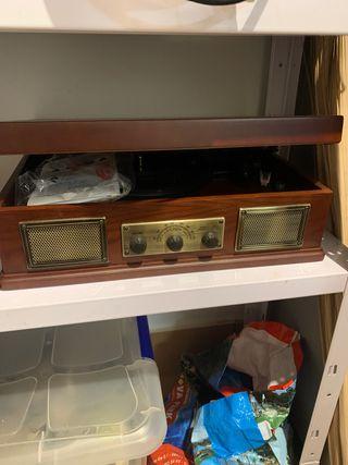 Tocadiscos vintage nuevo no usado