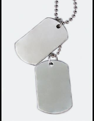 placas militares acero inoxidable