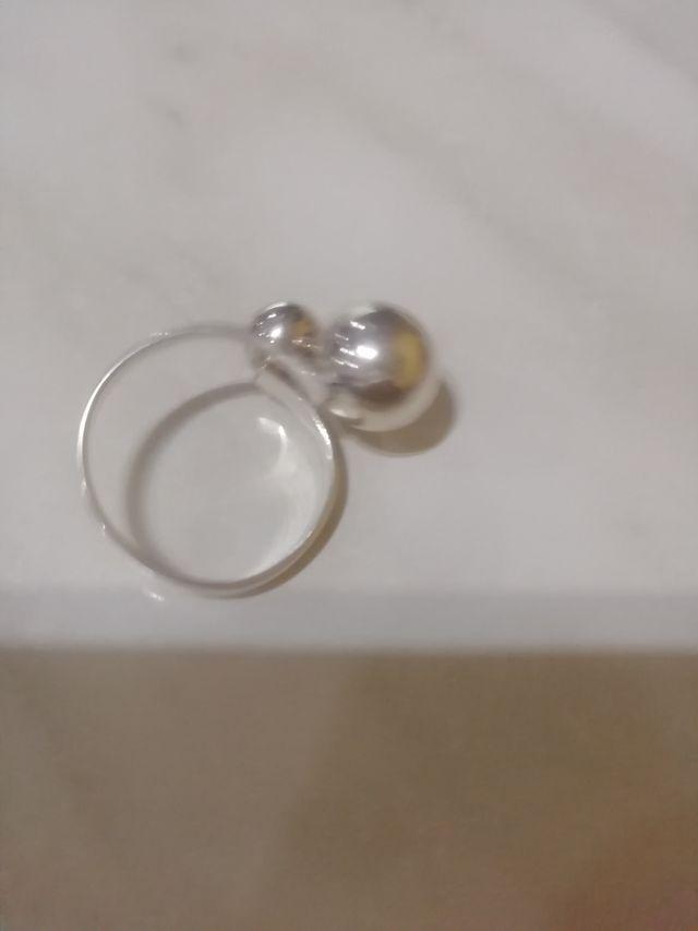 anillo de plata ajustable