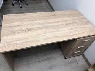 Mesa madera + cajonera con ruedas