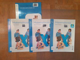 libros de 5° de MATEMÁTICAS