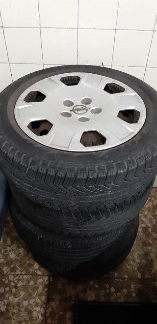 4 llantas/neumáticos/tapacubos opel