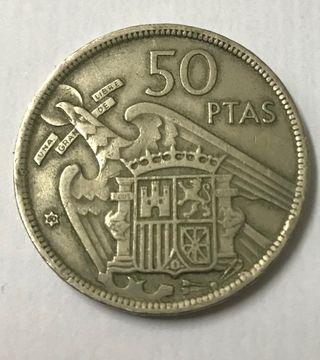 Moneda 50 pesetas 1957