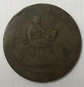1 republica 10 céntimos 1870 moneda