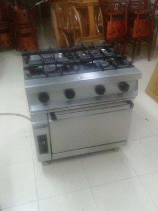 cocina 4 fuegos con horno repagas