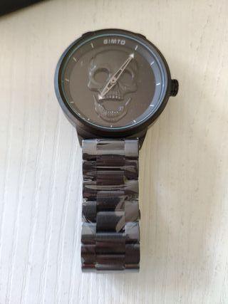 Reloj GIMTO 3D craneo/calavera color negro