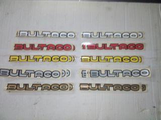 Set 2 adhesivos originales de Bultaco deposito
