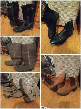 pack zapatos, botas, botines