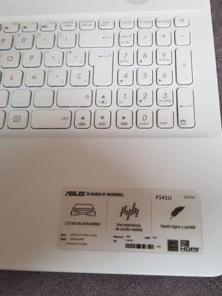ordenador portatil Asus F541U