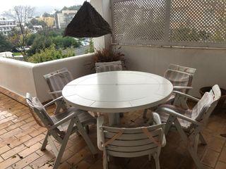 Conjunto de mesa + 6 sillas de exterior