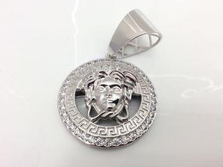 Medallón versace Colgante plata