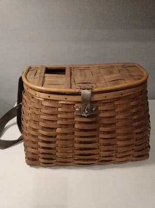 antigua cesta para pesca