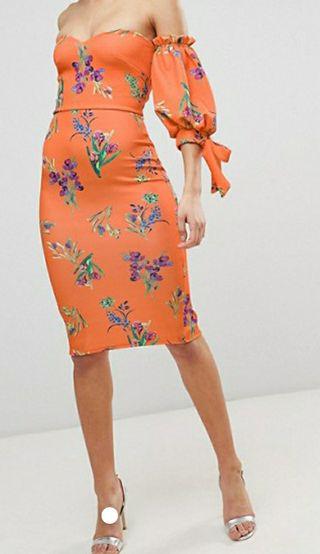 vestido naranja