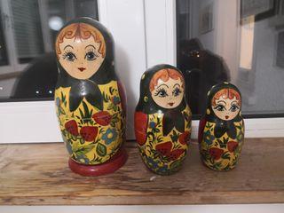 Juego 3 matrioskas _ muñecas rusas