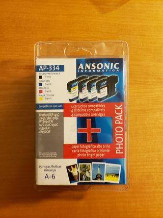 cartuchos de tinta y papel fotográfico Ansonic inf