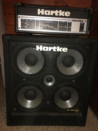 Amplificador bajo HARTKE XL CABEZAL + PANTALLA