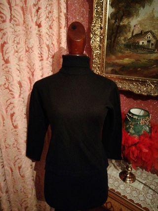 Jersey de punto talla M vestir cuello cisne