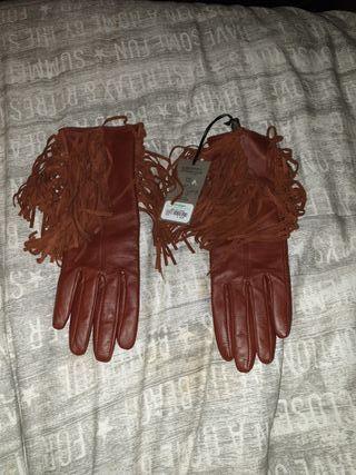 guantes piel gloria ortiz nuevos