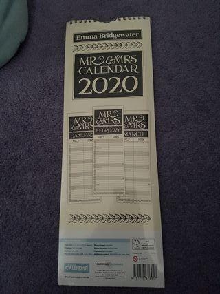 Emma Bridgewater Mr Mrs Calendar 2020