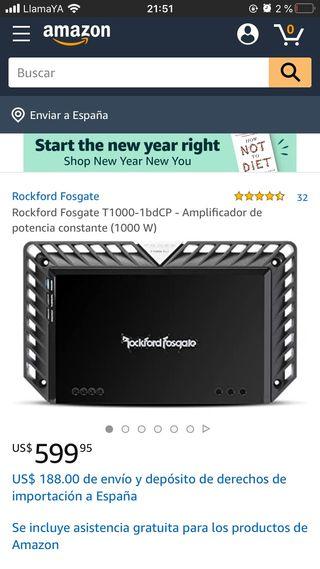 Equipo sonido Rockford Fosgate