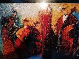 Las noches de jazz, pintura a oleo