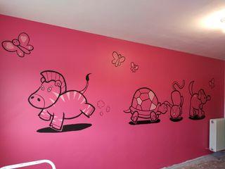 Murales infantiles pintados a mano
