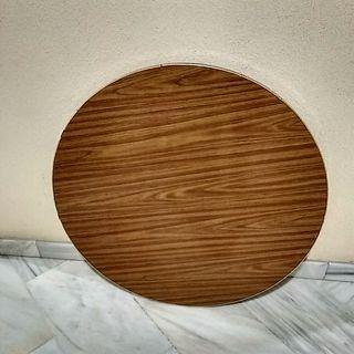 Tablero madera maciza mesa salón vintage años 50