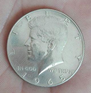 medio dolar plata Kennedy 1965