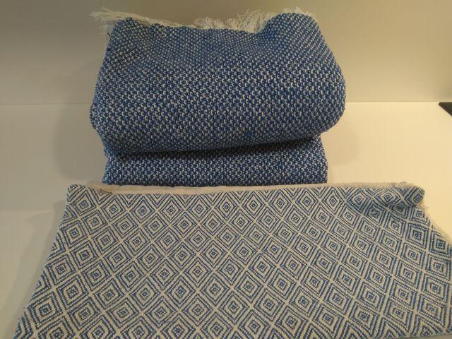 Mantitas sofá y fundas cojin a juego