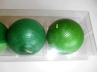 Pack 4 velas redondas verdes IKEA (NUEVO)