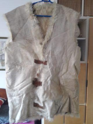 Chaleco 100% real piel de oveja cordero cuero