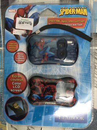 Cámara fotos digital Spiderman con flash, Marvel