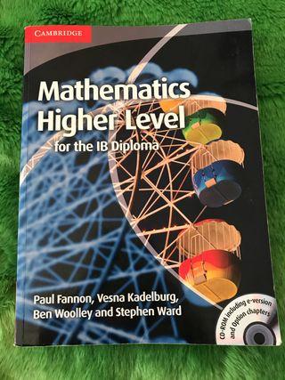 Mathematics Higher Level, for IB Diploma