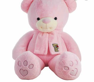 Peluche oso rosa gigante