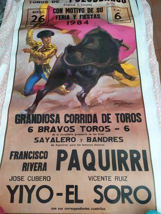 7 carteles corridas de toros reproduccion
