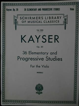 Partituras viola. Kayser. 36 Progressive Studies
