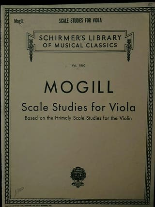 Partituras viola. Mogill. Scale Studies for viola