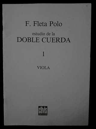Partituras viola. Estudio de la doble cuerda