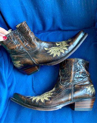 Botines de piel Cowboy Sendra