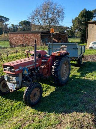 Tractor Massey Ferguson 135 + Remolque + Aperos