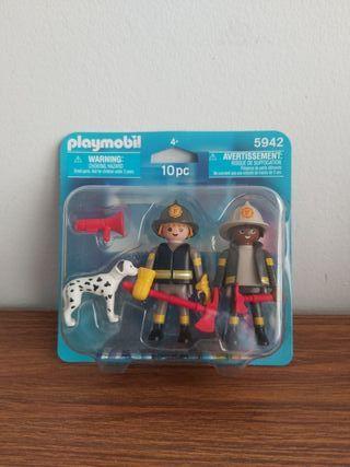 Playmobil bomberos y perro